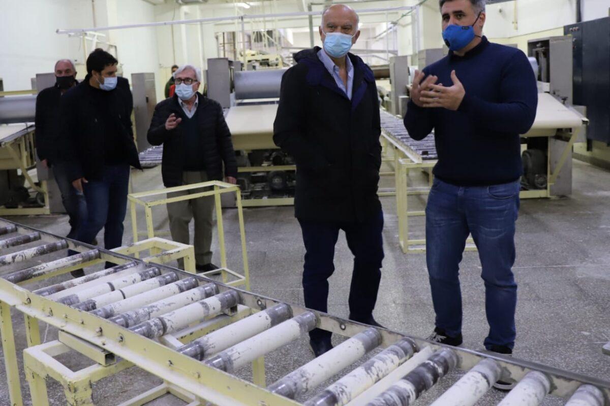 Grindetti visitó conocida fábrica de pastas lanusense