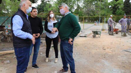 Avanza remodelación de la Plaza M. Moreno, en Escalada